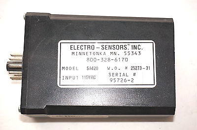 Used Electro Sensors Sa420 Signal Conditioner