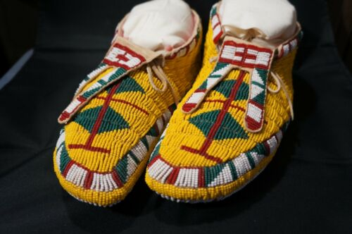 Sioux, Plains Ceremonial Moccasins C early 1900's
