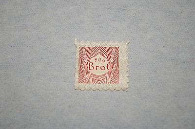Deutsches Reich DR Lebensmittelmarke rot durchstochen *50 g Brot*  3. Reich