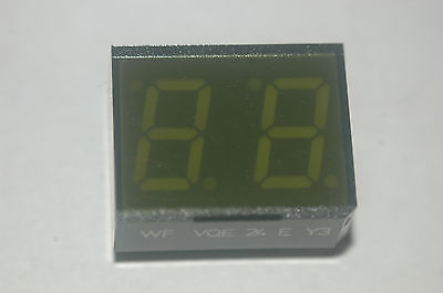 Wf Vqe-24r-y3 2-digit Green 7-segmented Display New Lot Quantity-2
