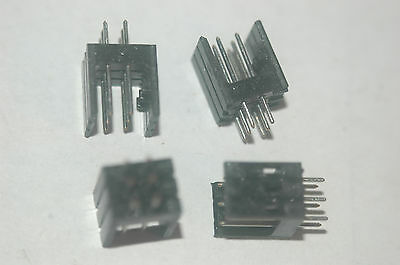Amphenol 0-0827297-3 6-pin Shrouded Header Pin New Lot Quantity-25