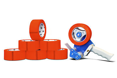 Free 3 Tape Gun Dispenser With 6 Rolls 3x55 Red Colored Packing 2 Mil Tape