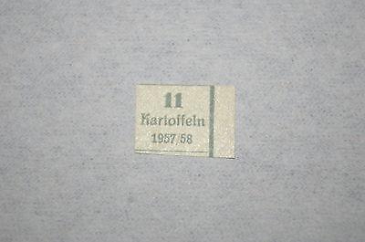 DDR 1957/1958  Lebensmittelmarke geschnitten *Kartoffeln* Kartoffel-Marke /Zone!