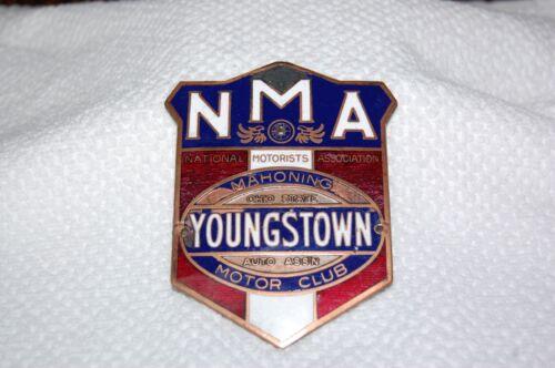Youngstown Ohio NMA Motor Club Radiator Emblem Badge Antique Car