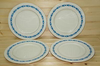 """Castleton Classic Blue (4) Salad Plates 8 3/8"""""""