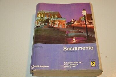 1977 Sacramento California Pacific Telephone Directory/ Phone Book/ Yellow Pages