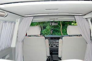 VW T5 STARTLINE MULTIVAN BEACH FÜHRERHAUS FAHRERHAUS GARDINEN VORHANG BAIMEX