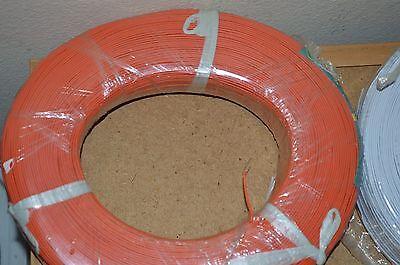 22 Awg Gauge Solid Hook Up Wire Orange 50ft 300 Volts