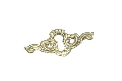"2 1/2"" Keyhole Cover Plate Escutcheon Furniture Brass Key Hole Lock Plate"
