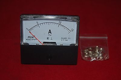 Ac 15a Analog Ammeter Panel Amp Current Meter Ac 0-15a 6070mm Directly Connect