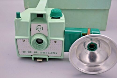 Antique 1950s Girl Scouts Camera W/ Flash & Orginal Box
