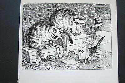 Kliban Cat Halloween (VINTAGE KLIBAN CAT CARTOON PRINT-