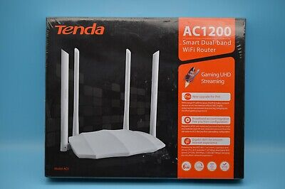 Tenda AC1200 Dualband Router 802.11ac GLAN USB MU-MIMO Technologie 4 Antenne NEU