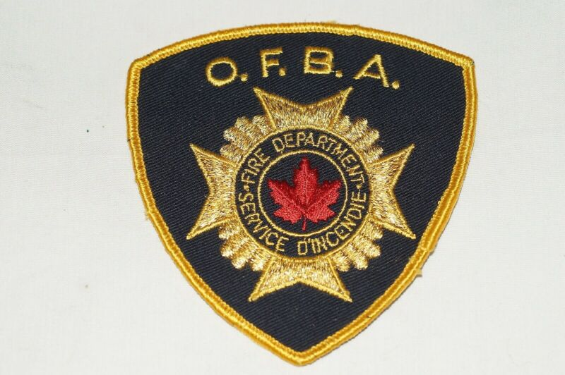 Canadian OFBA Fire Department Patch