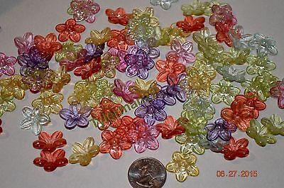 150 PLASTIC MIXED FLOWER BEADS BIRD TOY PARTS CRAFTS