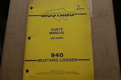 Mustang 940 Skid Steer Loader Parts Manual Book Catalog List Spare Front End