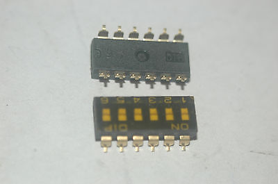 Apem Dmr-06t 12-pin 6-position Smd Dip Switch Quantity-10