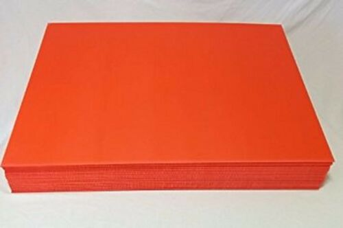 "Halloween 18""x24"" Corrugated Plastic -Orange 5-Sheet Bundle HORIZONTAL + STAKES"