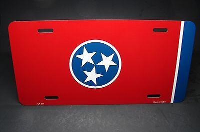 TENNESSEE STATE FLAG METAL NOVELTY LICENSE PLATE TAG FOR (State Metal License Plate)