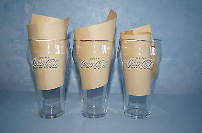 Vintage Coke Bell Glass Tumblers Soda Fountain 1960S 1 Rare Drink Coca Cola