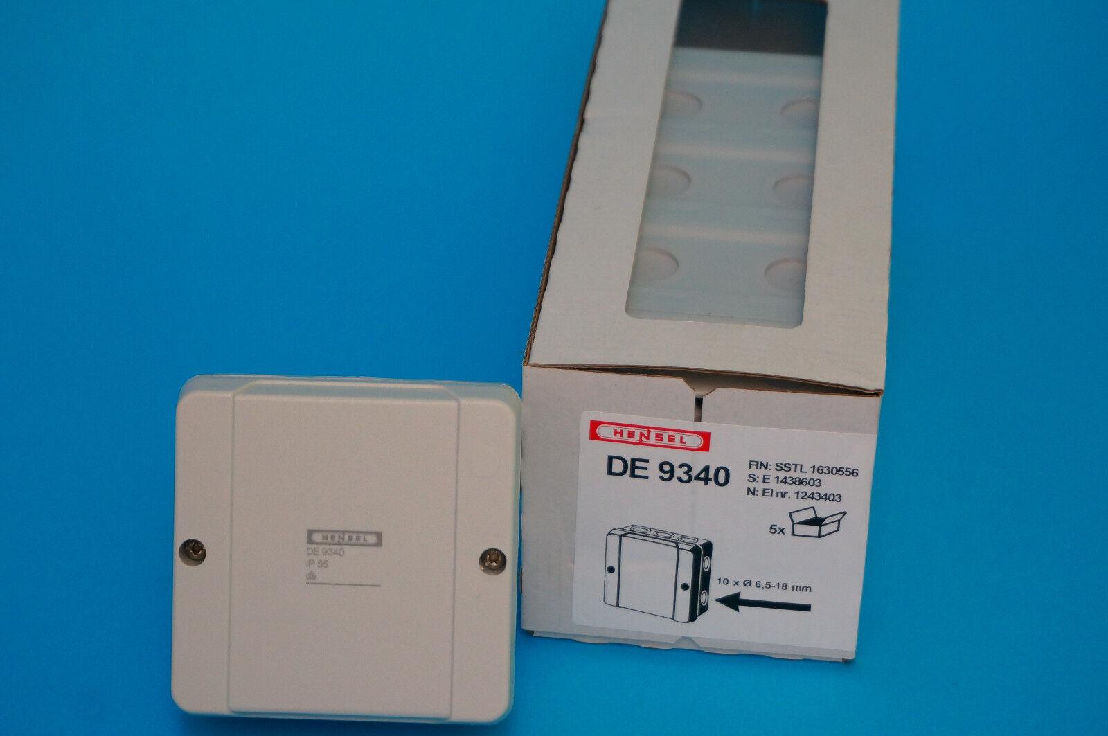 Hensel D9020 Aufputz Kabelabzweigkasten 2,5mm² Kunststoff 88x88x53mm,