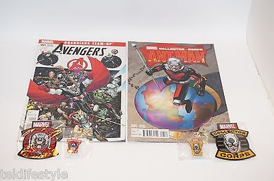 Marvel Collector corp AVENGERS AGE OF ULTRON ANT-MAN COMIC BOOK PIN PATCH BUNDLE