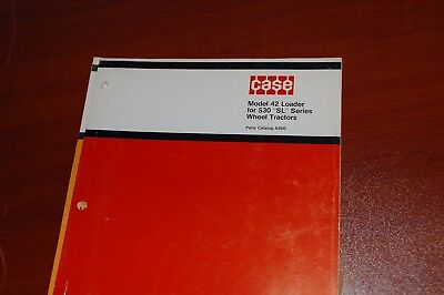 Case Model 42 Front End Loader 530sl Tractor Parts Manual Book Catalog List 1975