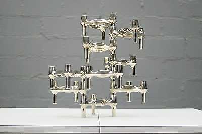12x frisch polierte modulare BMF Kerzenhalter Kerzenständer Chrom & Gold Bicolor