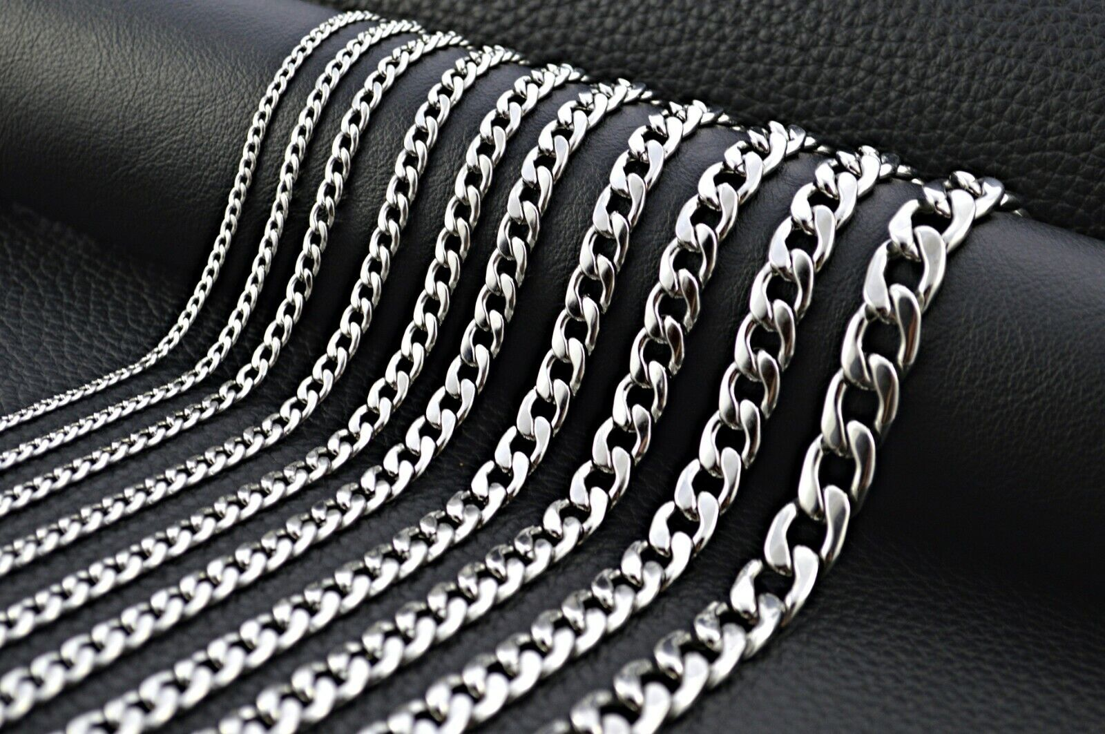 Edelstahlkette Panzerkette Halskette Silber Herren Damen Modeschmuck