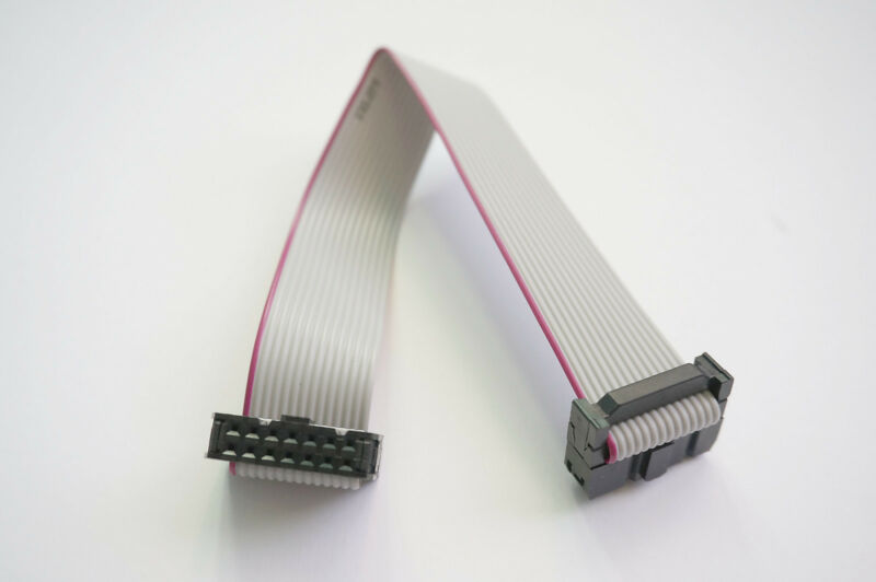 2x7 (14-pin) IDC Ribbon Cable, 2.54mm pitch, 15cm - USA Seller - Free Shipping
