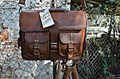 Men Leather Briefcase Business Laptop Bag Attache Messenger Portfolio Bags Brown for sale  Shipping to South Africa