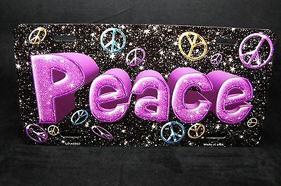Peace Metall Aluminium Auto Kennzeichen Bunte One Love One World ()