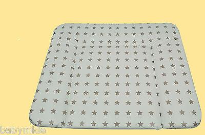 Baby Wickelauflage Wickeltisch Wickelmulde 72x85cm Ökotex Sterne soft taupe