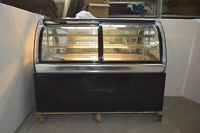 Countertop 47 In Glass Refrigerated Cake Showcase Bekery Display Cabinet 220vnew