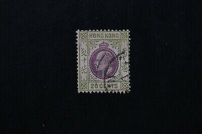 Hong Kong #98 1904 20c F/VF used stamp 2017 cv$50.00 (k474)
