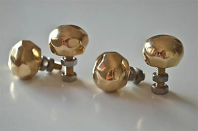 Set of 4 superb quality faceted brass furniture knobs handles chest knob 2008