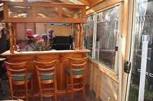 Solid Wood Bar and stools and slate billiard table Sunbury Hume Area Preview