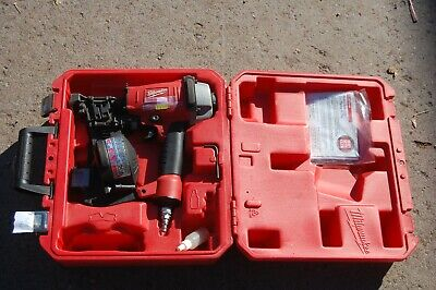 Milwaukee 7120-21 Hand Held Pneumatic Coil Roofing Nailer W Case