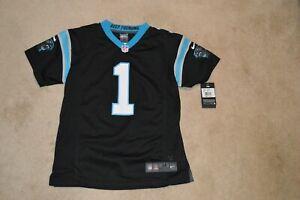 923268a6 NWT $75 Nike Carolina Panthers #1 Cam Newton Football Jersey Youth XL 18-20