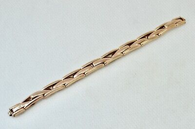 9ct Gold Expanding Watch Strap Ladies English Made BCM PREMO 300 c1920s