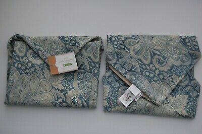 "Set Of Two  Pottery Barn JANELLE PRINTED PILLOW COVERS - 20"" X 20"""