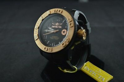 Invicta Sea Hunter 1072 Black and Rose Gold Men's Watch