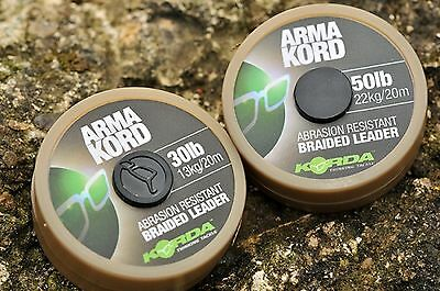 Korda Arma Kord Braided Shock / Spod / Snag Leader - 20m Spool - All Strains