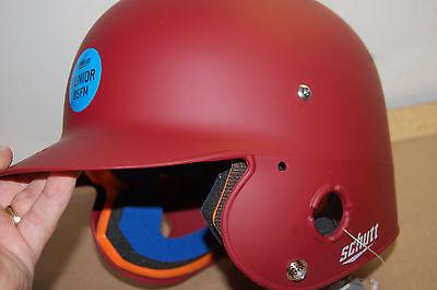 bdaef250 NWT Schutt Sports Junior OSFM 2742 AIR PRO 4.2 Batter's Helmet cardinal  matte