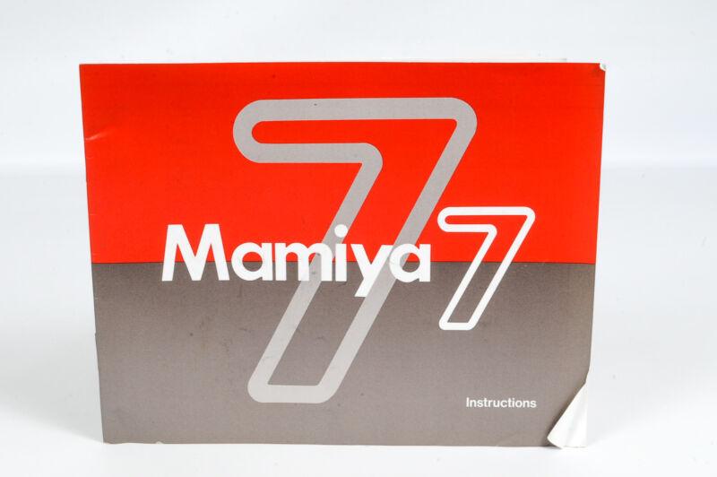 Mamiya 7 Instruction Manual for Mamiya 7 Camera - ****EX****