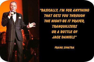 "Frank Sinatra ""Jack Daniels"" (4"" X 6"") Magnet"