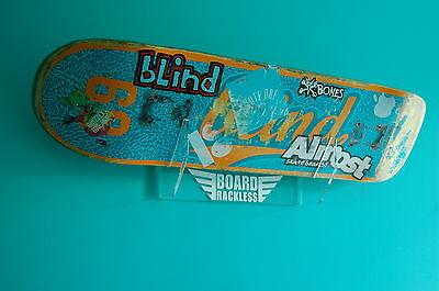 Skateboard Rack in Clear Acrylic. Holds 1 board. Wall Mounted.