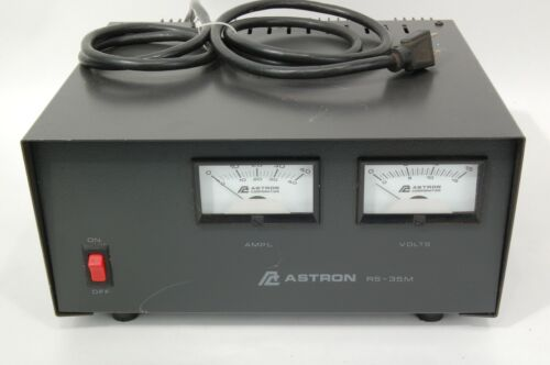 Astron RS-35M Power Supply W/ amp & Volt Meters13.8 VDC 35 A