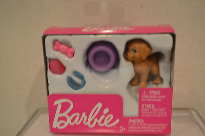 """Barbie~2018~Brown Puppy Dog~2"""" High~Accessories~FHY70~Brand New In Box~KC"""