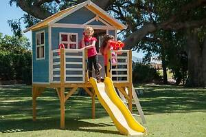 Kids New Outdoor Elevated Timber Wooden Cubby House with Slide East Perth Perth City Area Preview